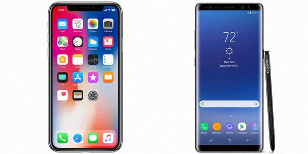 Samsung Galaxy Note 9 X vs iPhone